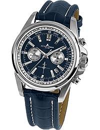 Jacques Lemans Herren-Armbanduhr Liverpool Analog Quarz Leder 1-1117.1VN