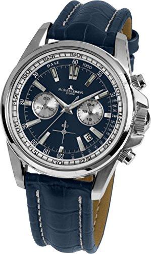 Jacques Lemans Liverpool–Reloj de pulsera analógico de cuarzo piel 1–1117.1VN