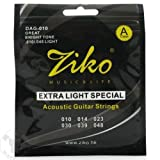 #10: SG Musical - High Quality ZIKO Extra Light Special Brass Acoustic Guitar Strings .010/.048