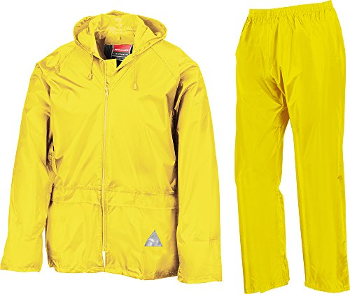 Result Heavyweight Waterproof Jacket/Trouser Suit Adult Windproof Coat/Pants Set