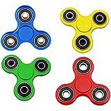 Pack Jaune \ Rouge \ Bleu \ Vert Hand Spinner Anti-Stress , Roulement en métal Haute performance , Reduit l'anxiete , Aide à la concentration - MultiPack