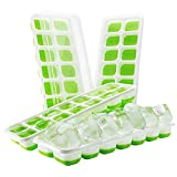 TopElek Eiswürfelform, 14-fach Eiswürfel, 4er Pack, kühl aufbewahren, LFGB Zertifiziert, Einfach zu bedienen