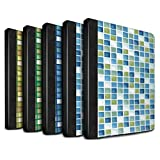 STUFF4 PU-Leder Hülle/Case/Brieftasche für Apple iPad Pro 9.7 tablet / Pack (15 Modelle) Muster / Bad Fliesen Kollektion