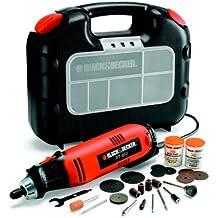 Black and Decker RT650KA-QS - Miniherramienta multiuso 90 W con 87 accesorios y maletín (230 V) color naranja
