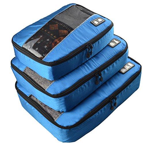 Estarer Kleidertaschen Packwürfel Set 3 Pcs für Kleidung Reise Business