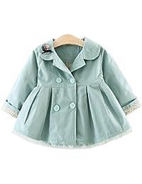 8fe104d052 YaoDgFa Baby Mädchen Jacke Mantel Trenchcoat Sweatjacke Prinzessin  Kinderjacken Kleidung Outerwear 0-3 Jahre Frühling