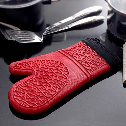forno-a-microonde-domestico-forno-cottura-spessi-guanti-isolanti-di-silicone-antiscivolorosso