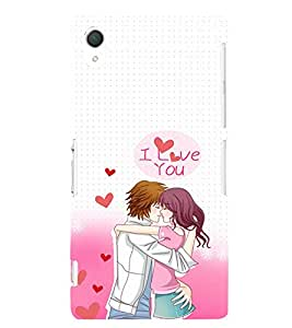 EPICCASE I Love You Mobile Back Case Cover For Sony Xperia T2 (Designer Case)
