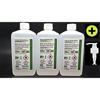 3x 500 ml - 12,99 € Desinfektionsmittel Händedesinfektion inkl. Dosierpumpe rückfettend VAH Listung preisvergleich bei billige-tabletten.eu