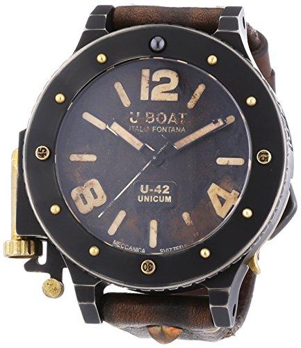 U-Boat 8088 - Reloj de automático para hombre, con correa de cuero, color marrón