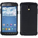 kwmobile Hybrid Outdoor Hülle für Samsung Galaxy S4 Active - Dual TPU Silikon Hard Case Handy Hard Cover in Schwarz