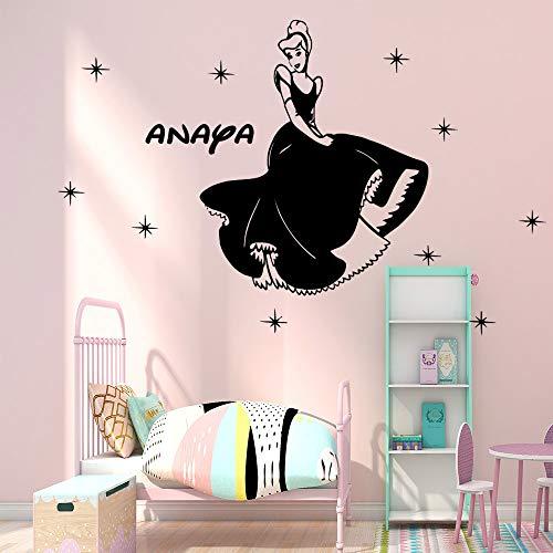 woyaofal Schöne Benutzerdefinierte Prinzessin Selbstklebende Vinyl Tapete Für Kinder Kinderzimmer Wohnzimmer Schlafzimmer Aufkleber Wohnkultur Muursticker M 28 cm X 28 cm