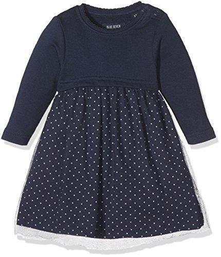 BLUE SEVEN Baby-Mädchen Kleid 963014 X, Blau (Dk Blau Orig 575), (Kleid 80)