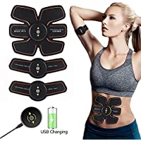 Mrzyzy Abs Stimulator Muscle Trainer Ultimate Abs Stimulator Ab Stimulator Para Hombres Mujeres Abdominal Work Out Power Fitness Abs Muscle Training Gear Equipo De Entrenamiento Portable Stimulator Abs Belt