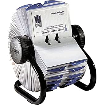 Rolodex Rotary Business Card File Black Small Amazon Co