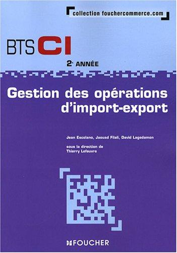 Gestion des opérations d'import-export BTS CI 2e année