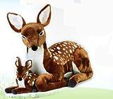 venturelli 720603 de la felpa de color leonado con bebé gigante