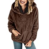 Luckycat Herbst Winter Damen Einfarbig Vintages Schulterfrei Kapuzenpulli Freizeithemd Wintermantel Hoodie Pullover Dress Minikleid Mode 2018