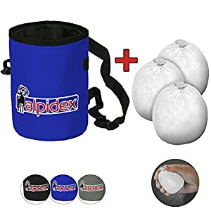 ALPIDEX Chalkbag, Incluyendo 3 x Chalk Ball 35 g