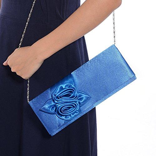 Anladia , Damen Clutch königsblau