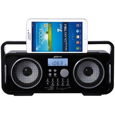 Groov-e GV-SP480-BK altavoz portátil - Altavoces portátiles (Inalámbrico y alámbrico, Batería, Bluetooth/3.5 mm, Mobile phone / Smartphone, Negro, Bluetooth)
