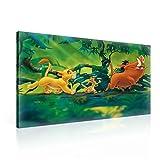 König Der Löwen Simba Timon Pumbaa Leinwand Bilder (PPD2203O1FW) - Wallsticker Warehouse - Size O1 - 100cm x 75cm - 230g/m2 Canvas - 1 Piece