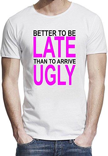 better-to-be-late-slogan-t-shirt-bordo-grezzo-uomini-x-large