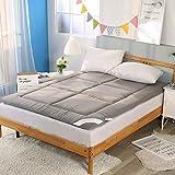YMG 100% Baumwolle Verdickung Tatami Matratze Schlaf Teppich Pad Gefaltet Boden Bett Matten Doppel Kissen für Schlafzimmer und Büro,90 * 200cm