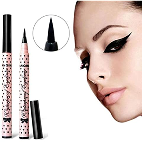 LHWY Lápiz maquillaje cosmético negro ojo líquido rosado Liner lápiz hacer herramienta