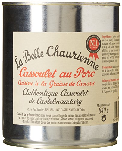 La Belle Chaurienne Cassoulet au Porc Cuisiné à la Graisse de Canard 840 g - Lot de 3