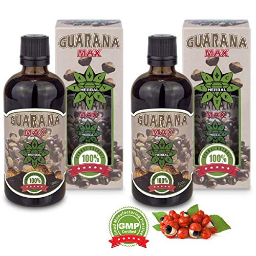 Cvetita Herbal Guarana Extrakt Energieergänzung & Fettverbrenner Nahrungsergänzungsmittel, Immunsystem Booster und mehr Konzentration & Fokus (200ml)