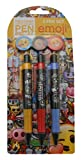 Anker Emoji Lot de 3stylos Plastique Multicolore