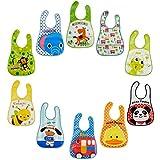 Baby Lätzchen-Set von 10Wasserdicht abwischbar EVA Kunststoff für Kinder von 6Monaten bis 6Jahren.