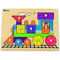Andreu Toys - Encaje Tren de Madera, 10 Piezas (16451.0) - Peluches y Puzzles precios baratos