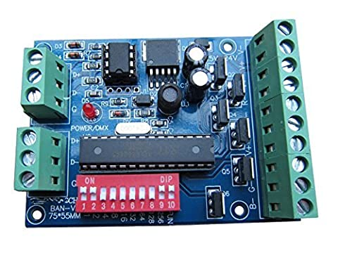 DMX 512 Decoder 6 Channel 4A/CH Controller Stage Lighting Controller DJ Lighting CMOS Output by
