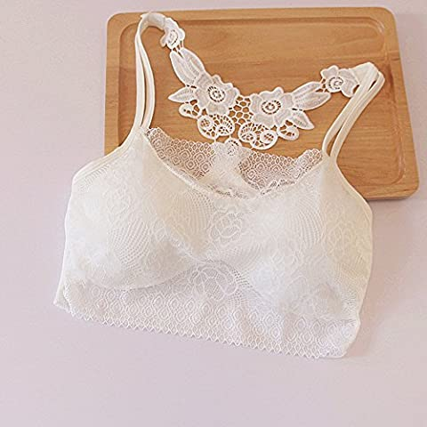 Vale® Moda muchachas de las mujeres del tanque del cordón atractivo Tops Sujetador Chaleco Camisa corta(Blanco)