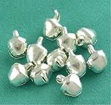 k2-accessories A0069 - Confezione da 50 campanellini, 8 mm, colore: Argento