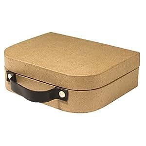 Medium Paper Mâché Box Suitcase - 16 x 13 x 5 cm