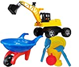 KSS Großes Strandspielzeug-Set Schubkarre großer Bagger
