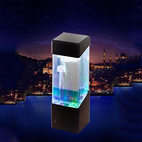 Ruyi&JixiangDesktop Creative künstliche Qualle Aquarium LED Beleuchtung Fish Tank Nacht Licht
