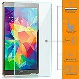 zanasta [3 Stück] Bildschirmschutz Folie kompatibel mit Samsung Galaxy Tab S 8.4 (SM-T700 T705) Schutzfolie aus Gehärtetem Glas (Glasfolie) HD Klar Transparent