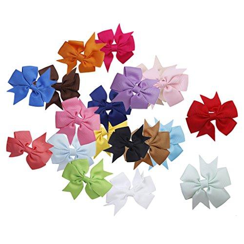 Lot de 20pcs Barrette Pince à Cheveux Décorative pour Enfant Fille - Multicolore