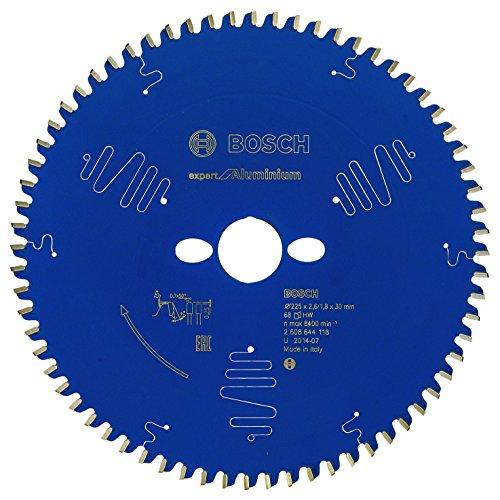 Bosch Kreissägeblatt Expert für Aluminium, 225 x 30 x 2,6 mm, Zähnezahl 68, 1 Stück, 2608644118