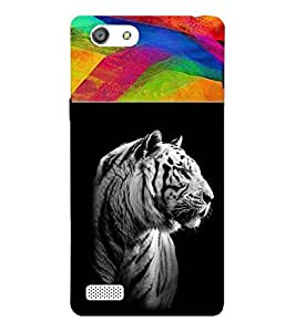 For Oppo Neo 7 :: Oppo A33 dangerous tiger ( dangerous tiger, tiger, beautiful tiger ) Printed Designer Back Case Cover By CHAPLOOS
