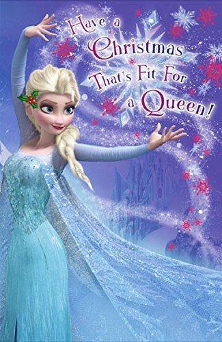 Frozen Weihnachtskarte, passend für eine Königin (414404) (Elsa Snow Flake)