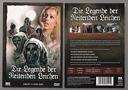 DIE LEGENDE DER REITENDEN LEICHEN Teil 1 2 3 4 UNCUT 4 DVD Box im Schuber