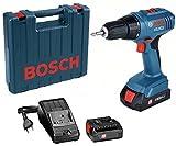 Bosch 06019E6120 Professional 18V Akkuschrauber GSR 18-2-LI Plus 2X 2,0 Ah Akku, 1 W, 18 V