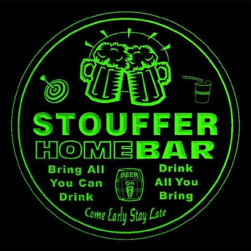 4x-ccq43470-g-stouffer-family-name-home-bar-pub-beer-club-gift-3d-coasters