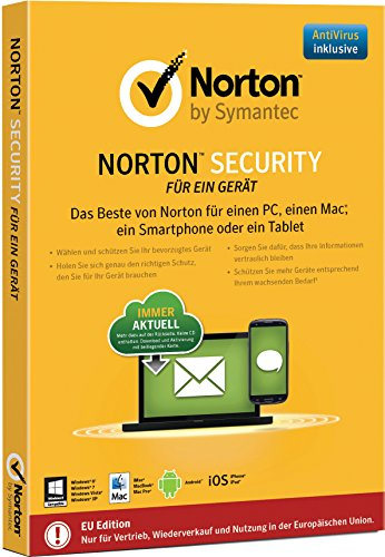 Norton Security - 1 Gerät (PC, Mac, Android, iOS) (Product Key Card) (Norton Security 1 Pc 2015)