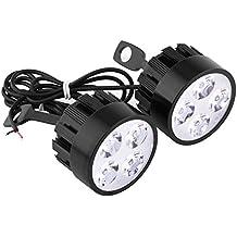 Vgeby – Lámpara LED universal para motocicleta, faros antiniebla, luz de techo, luz auxiliar de conducción (Pack de 2)